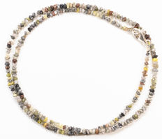 22.10 ct Bracelet or Necklace with multi-color Rough Diamonds