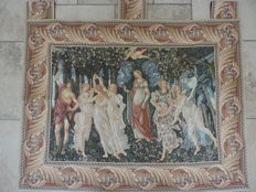 Tapestry - La Primavera after a painting by Botticelli from the 15th century. 20th century, Italy