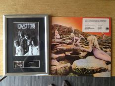 "Led Zeppelin -  ""  Signed Autograph Mounted Photo (Print ) by the members of the Band and -  Lp ""Houses of the  Holy""- Promo not for Sale"