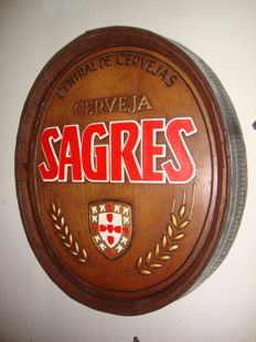 Sagres Advertise Vintage In the Shape of a Barril,  Ca 1970, Portugal