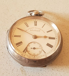 21.  J.G. Graves Sheffield - Lepine Silver pocket watch - The Express English Lever - England 1880