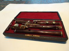 C. Mahillon wooden 8-key flute Bruxelles around 1885