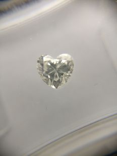 0.51 ct Heart cut diamond F SI1