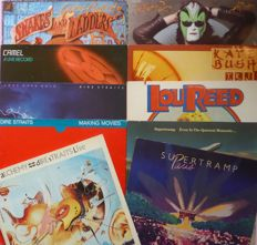 10 albums by legendary 80's bands, including 3 live double albums (13 lp's); Supertramp (2), Dire Straits (3), Camel, Kate Bush, Lou Reed, Steve Miller Band and Gerry Rafferty