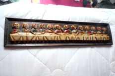 Representation of the Last Supper - Sculpture entirely made of wood