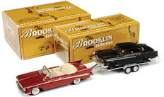 "Brooklin - Scale 1/43 - Lot with 3 models: Part I & Part II - BCC 2002 ""Found At Last"" Club Special Set: Chrysler Imperial, trailer with Chrysler 300C & 1955 Chrysler 300C - Limited Edition 240 pcs"