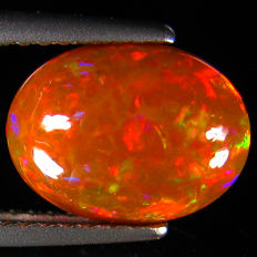 Fine White Opal with Rainbow flash - 10.06 X 8.01 X 4.08 mm  - 1.93 ct