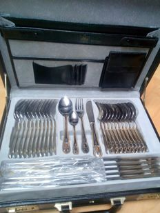 Solingen - Deluxe cutlery case golden gold 23/24 carat Royal model