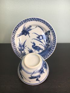 Cup and saucer - China - early 18th century ( Kangi period )
