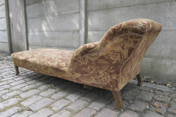 Art Deco Chaise Longue With The Original Upholstery Catawiki