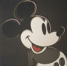 Andy Warhol - Lithography Georges Israel Editeur - Mickey Mouse grey