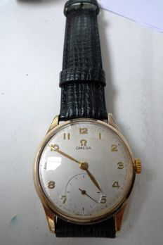 Omega cal 265 men's watch; 9ct gold case  hallmarked 1964
