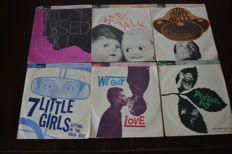 Very rare lot of singles from the fifties. Produced and released for the North American marked.