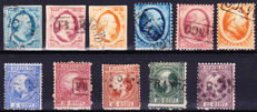 The Netherlands 1852/1867 - King Willem III - NVPH 1/3, 4/6 and 7/11