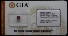 0.83 ct. GIA Certified Natural Fancy Deep Brown-Purple Diamond - NO RESERVE
