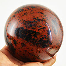 "Top Large Red Mahogany Obsidian ""healing ball"" - 94 mm - 1138 gm"