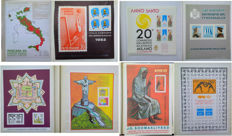 Republic of Italy, 1977-1985 - Collection of 61 sheets of non-postal stamps