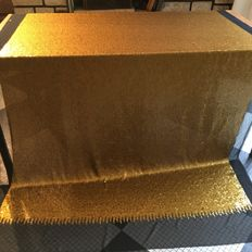 Huge chiffon fabric with thousands of golden sequins