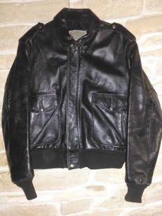 SCHOTT 674 type, Top Gun leather made  pilot jacket, authentic item from '70s, made in USA
