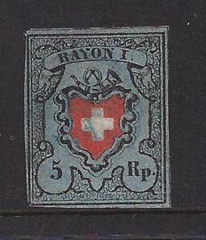 Switzerland 1850 – Rayon I – Michel 7 II