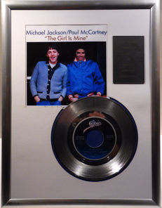 "Michael Jackson and Paul McCartney - The Girl is mine - 7"" Single Epic Records platinum plated record Special Edition"