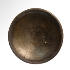 Greek Terracotta Stemmed Plate, 14 cm D