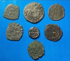 Italian Mints - Lot of coins from medieval mints of South Italy - Aragonese, Swabian, Angevine and Norman - 12th-13th Century