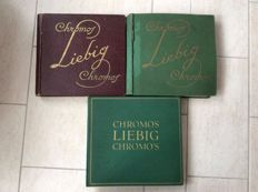 Chromos 3 Liebig books + prints