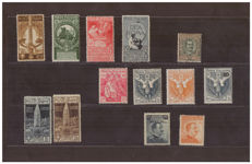 Italy, Kingdom, 2011/2016 – Lot of stamps from the period – Sass. No.  91, 92/95, 97/98, 102/107