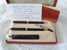 S.T. Dupont L2 laque de Chine set, fountain & rollerball