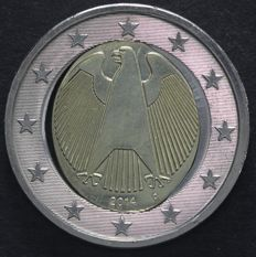 "Germany - 2 Euros 2014 D miss-strike ""fried egg"""