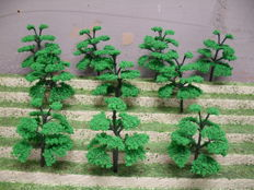 Scenery N - 180-piece lot of trees