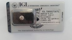 0.62ct ROUND DIAMOND  Top  Light Brown VS2 IGL Lab  -NO RESERVE