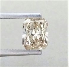 1.05 carat - RADIANT Cut- Natural Fancy Champagne  - SI1 clarity -