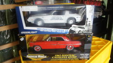 Greenlight / ERTL - Scale 1/18 - Pontiac Trans Am 1981 Pace Car Daytona 500 & Pontiac Catalina 421 - 1962