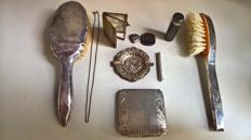 Art Nouveau Hanau Germany 800, 835, 935 silver - pencil holder, photo pendant, hair brush, powder box...