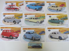 Atlas-Dinky Toys - Scale 1/43 - Lot with 10 models, with or without certificate 7 and 9 informative leaflets