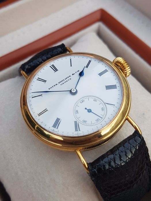 42eb42b5e04 Patek Philippe - marriage watch-silver gold plated case - movement and dial  from ca.1880-1890 - Men - 1850-1900
