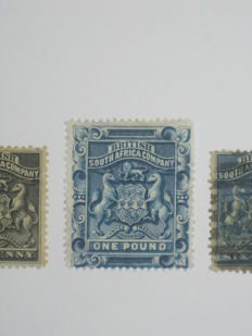 British South Africa Company, Kenia, Somaliland, Rhodesia – Small selection