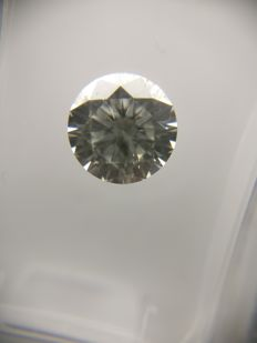 1.05 ct Round cut diamond F SI2    No Reserve Price