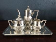 Wiskemann - Louis seize style silver plated coffee set