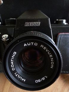 Revue camera 50 mm and telephoto zoom lens