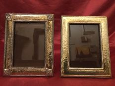 Two silver picture frames 925/1000, Italy 20th century
