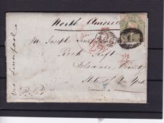 Great Britain, Queen Victoria – Stanley Gibbons 54 on letter to New York