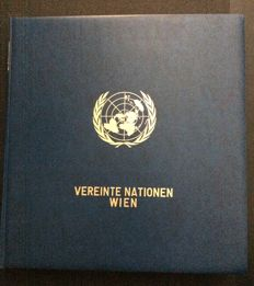 United Nations Vienna 1979-1997 – very extensive doubled collection with many small sheets in Leuctturm ring binder