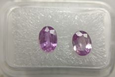 Couple Pink Sapphire Pink to Purple Pink 1.98 ct         No Reserve Price