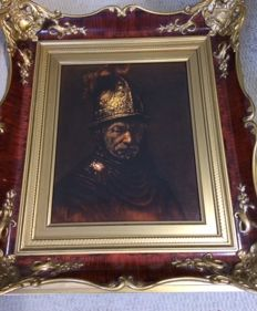 """Rosenthal Germany, porcelain picture """"The man with the Golden helmet"""" after Rembrandt"""