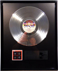 """Kiss - Best of Solo Albums - 12"""" Casablanca Record platinum plated record by WWA Awards"""