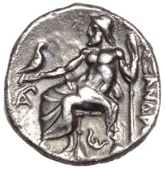 The Greek Antiquity - Kingdom of  Macedon - Alexander III, the Great (336-323 BC) under Philip III Arrhidaeus c. 323-317 BC - AR Drachm (Silver, 16mm, 4,22g.), Lampsakos mint - Head of Herakles / Zeus - ADM II 143
