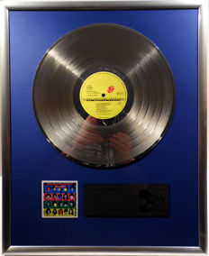 """The Rolling Stones - Some Girls - 12"""" Stones Record platinum plated record by WWA Awards"""